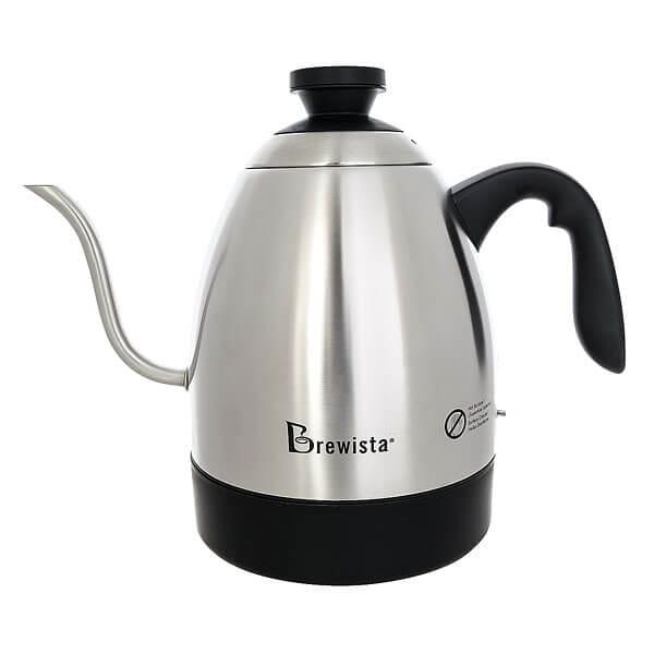 Чайник Стальной Электрический Brewista 1.2л C Датчиком Температуры Металлический/Черный