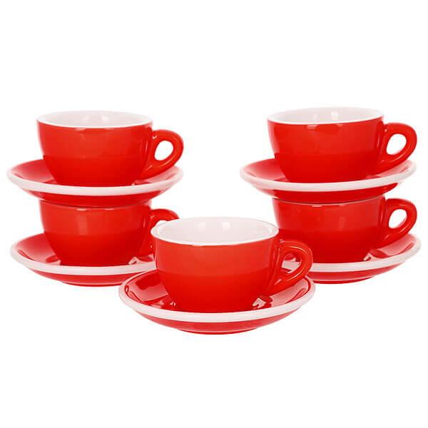 Набор Кофейных Пар Tiamo Для Эспрессо 80мл Hg0858r Красного Цвета