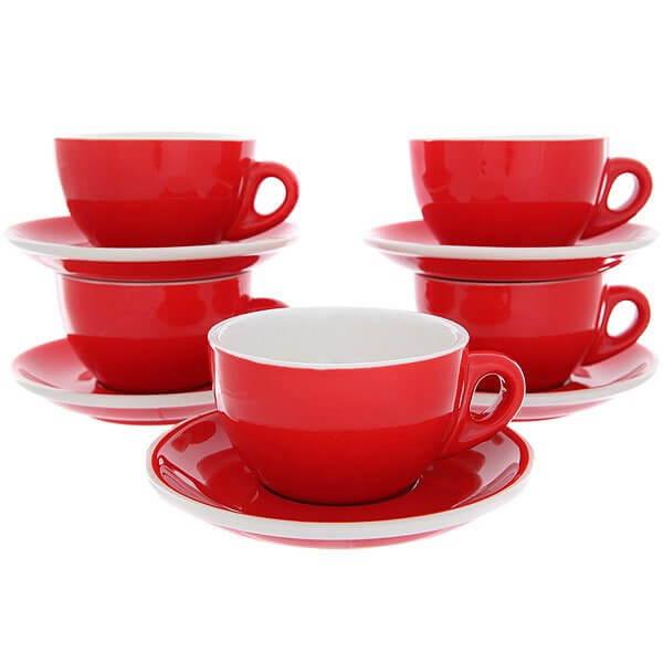 Набор Кофейных Пар Tiamo Для Латте/Каппучино 180 ml Hg0854r Красный