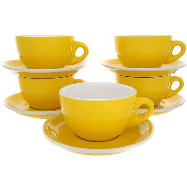 Набор Кофейных Пар Tiamo Для Латте/Каппучино 320 ml Hg0855y Желтый
