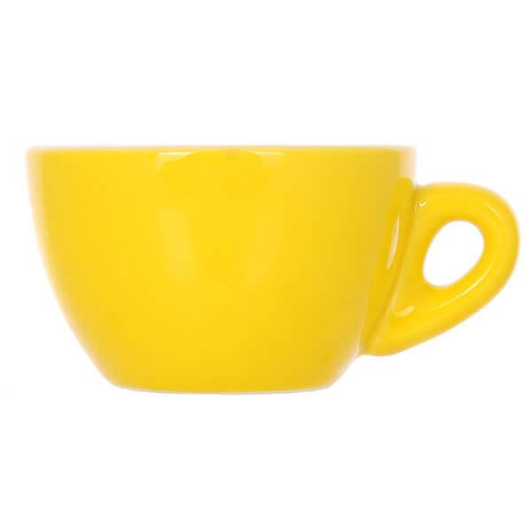 Набор из 5 кофейных пар желтого цвета для эспрессо 80мл