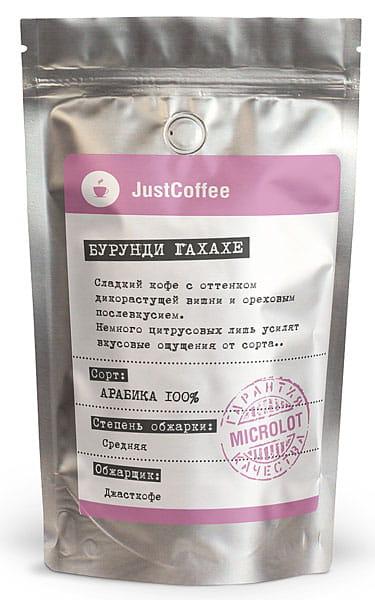 "Свежеобжаренный кофе ""Бурунди Гахахе"""