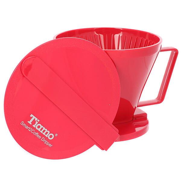 Воронка Tiamo HG5569R пластиковая Клевер красная