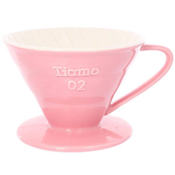 Воронка Tiamo HG5544PK керамическая розовая для заваривания дрип-кофе