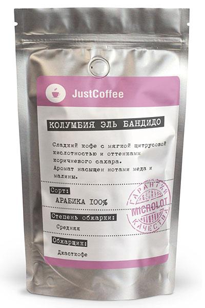 "Свежеобжаренный кофе ""Колумбия Эль Бандидо"""