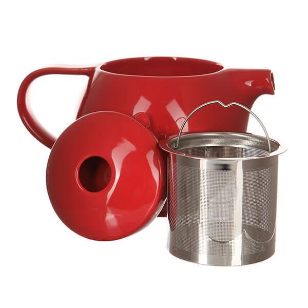Чайник  Loveramics (Лаврамикс) с ситечком 400ml красный