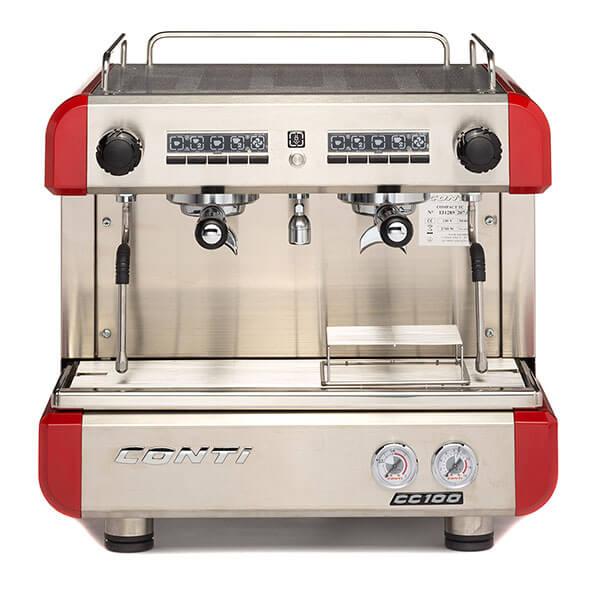Кофемашина CONTI CC100 Compact TC 2 группы красная