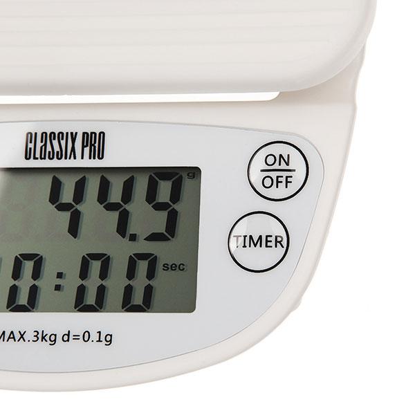 Classix Pro Весы с таймером белые