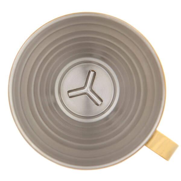Воронка Tiamo HG5050GD металлическая золотая