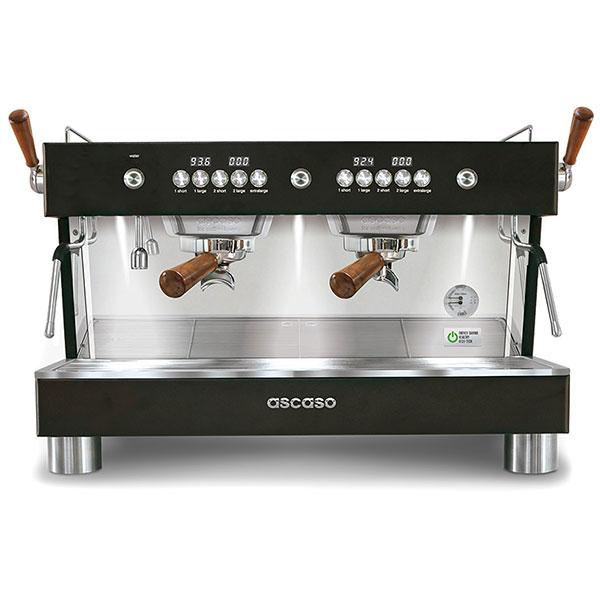 Кофемашина Ascaso Barista T plus двухгруппная полу-автоматическая (черная)