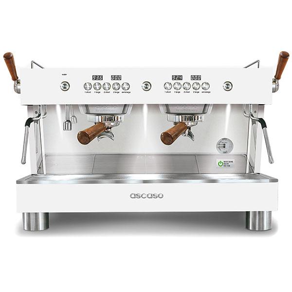 Кофемашина Ascaso Barista T plus двухгруппная полу-автоматическая (белая)