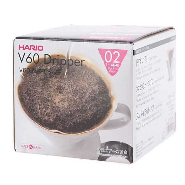 Воронка керамическая для приготовления кофе HARIO VDC-02R, красная