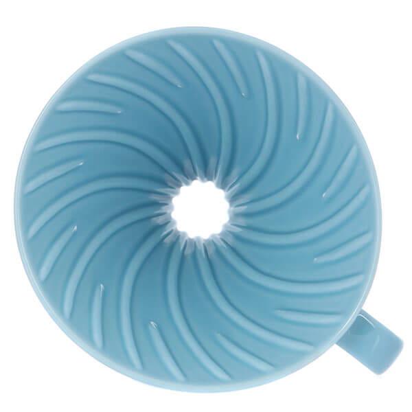 Воронка керамическая для приготовления кофе HARIO 3VDC-02-BU-UEX, голубая