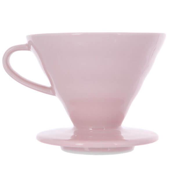 Воронка керамическая для приготовления кофе HARIO 3VDC-02-PPR-UEX, розовая
