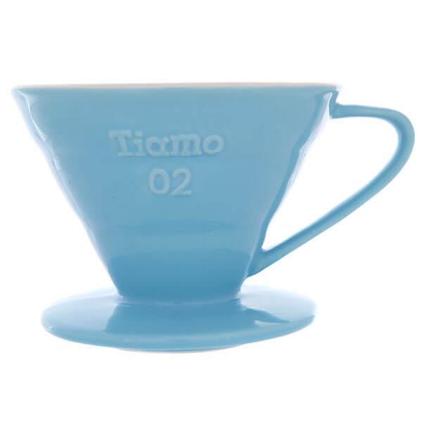 Воронка керамическая Tiamo HG5544BB, голубая