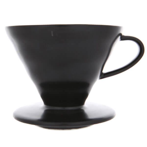 Воронка керамическая для приготовления кофе Hario 3vdc-02-mb-uex, черная матовая