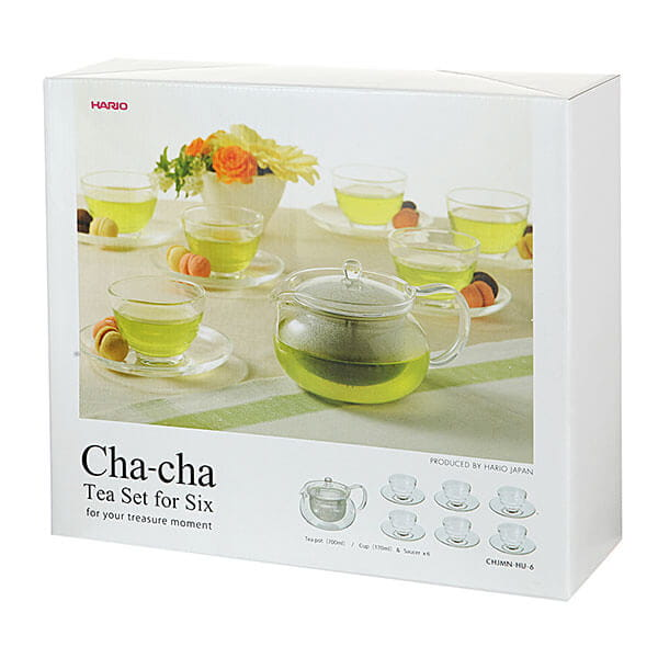 Чайный Набор Hario чайник + 6 чашек, стекло