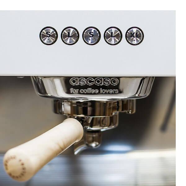 Кофемашина Ascaso Barista T zero двухгруппная, white\wood