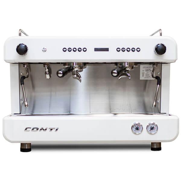 Кофемашина Conti CС200 С Дисплеем 2 Группы Белый
