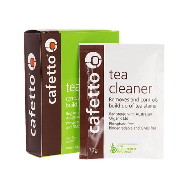 Cafetto Tea Cleaner средство для очистки от чайного налета чайников и кружек, 4*10гр