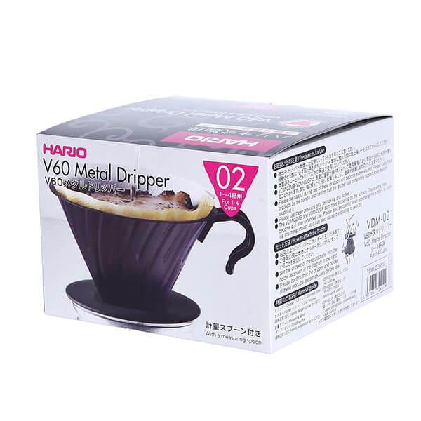 Воронка металлическая HARIO VDM-02HSV для приготовления кофе