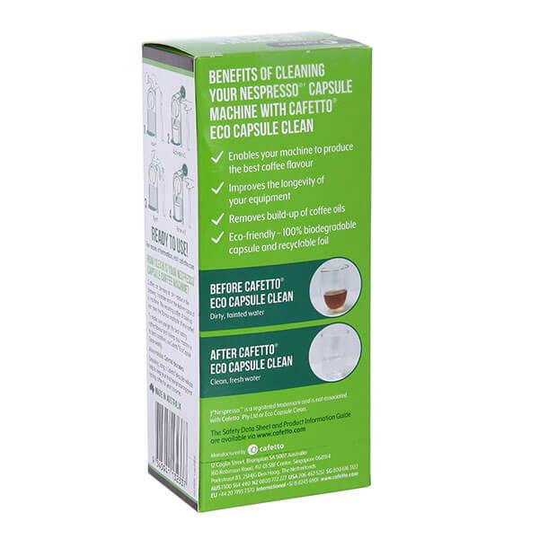 Cafetto Capsule Clean средство для очистки капсульных кофемашин ( 2,5*6шт)
