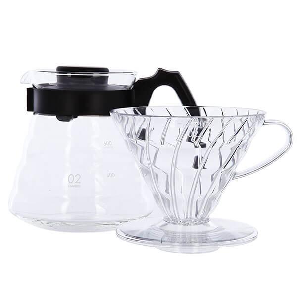 Чайник Hario Hario с Пластиковой Ручкой Черный Воронка