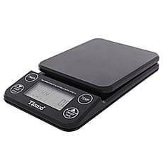 Весы электронные черные с термометром Tiamo HK0519BK