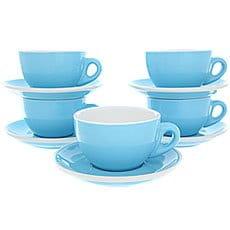 Набор Кофейных Пар Tiamo Для Латте/Каппучино 320мл Hg0855bb Голубого Цвета