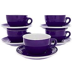 Набор Кофейных Пар Tiamo Для Латте/Каппучино 320мл Purple